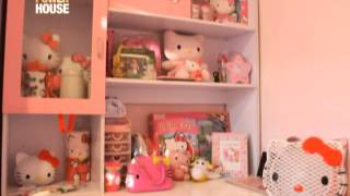 Nicole Hyala showcases her Hello Kitty