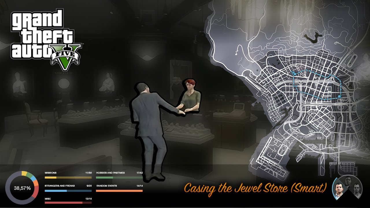 gta v casing the jewel store smart youtube