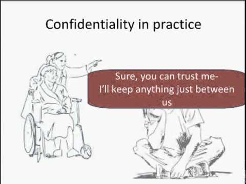 Confidentiality for community services workers