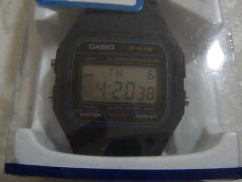 d78c7f26554 Relógio Casio Classic Retro Digital F91W-1YER - YouTube