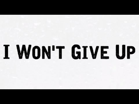 I WON'T GIVE UP Lyrics- JASON MRAZ (cover by Gabriel Conte and Jess Bauer)[LYRICS VIDEO]