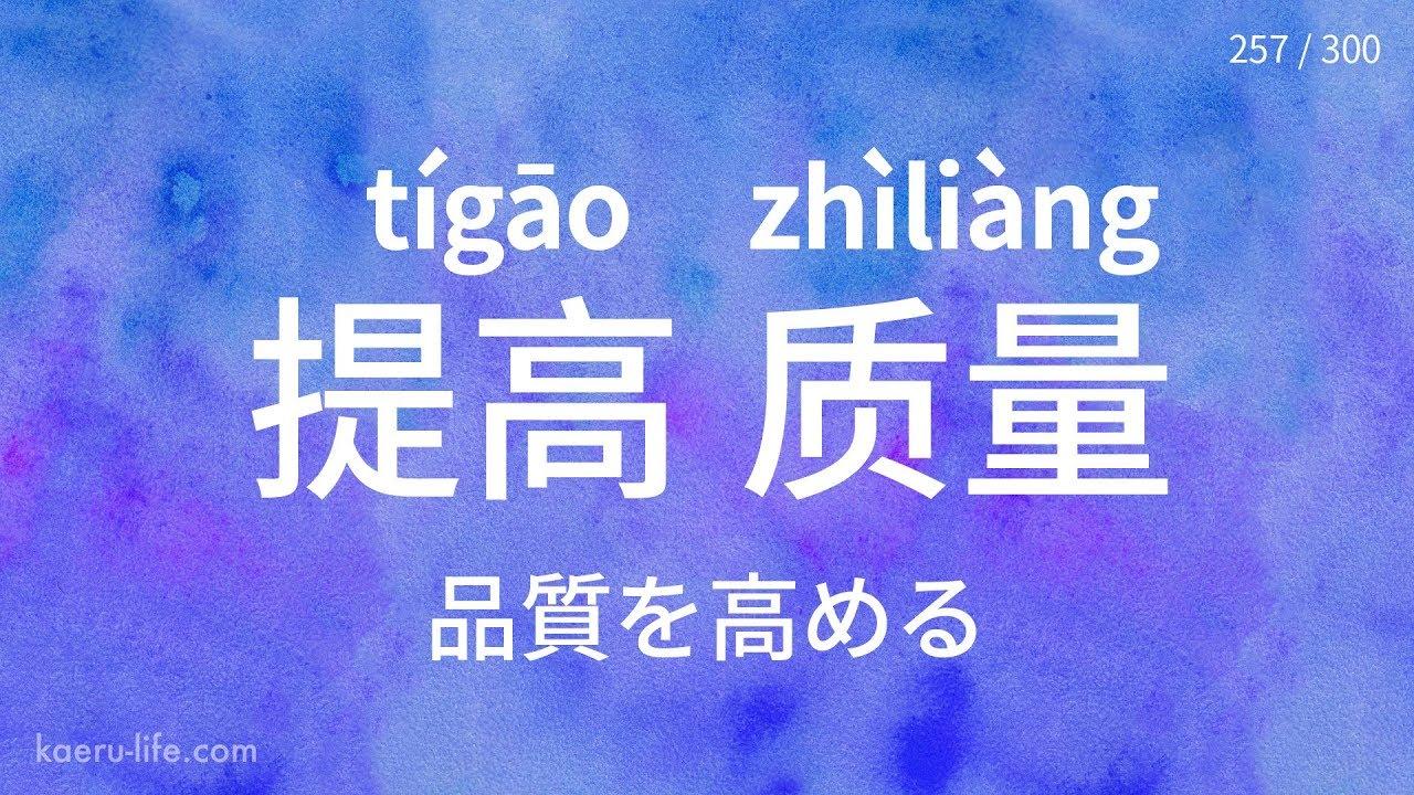 中国語の代表的な「動詞+目的語」フレーズ 300 (3)