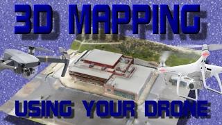 DJI Mavic Pro / Air / 2 Pro and Phantom 4 - Make FREE 3D MAPS Using DroneDeploy App