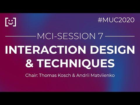 MCI-SE07: INTERACTION DESIGN & TECHNIQUES (Live-Aufzeichnung)