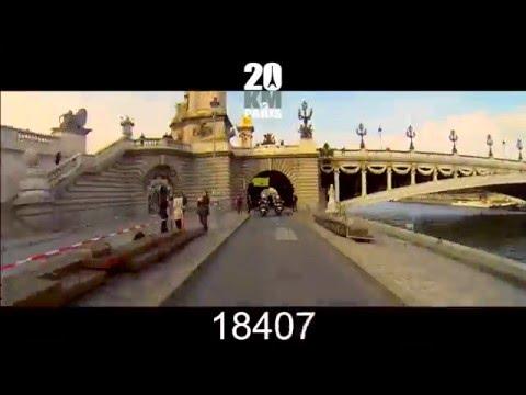 Le parcours des 20 Kilometres de Paris