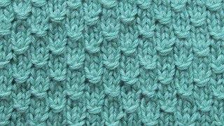 Плотный рельефный узор Вязание спицами 285
