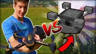 Co Je Zábavnější? 🤔 | Real Life vs Minecraft Gyrokoptéra pomocí Commandů! | GEARBEST.COM