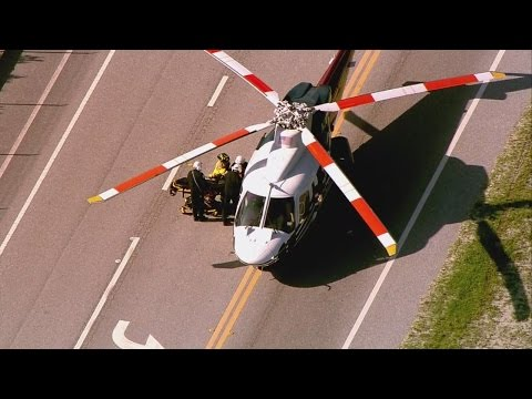 CHOPPER 5: Trauma Hawk transports patient after crash near Loxahatchee