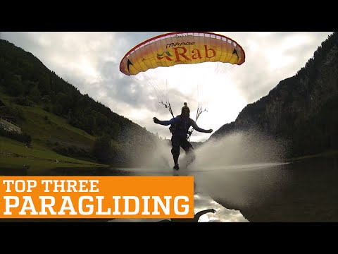TOP THREE PARAGLIDING, SPEEDFLYING AND SPEEDRIDING | PEOPLE ARE AWESOME