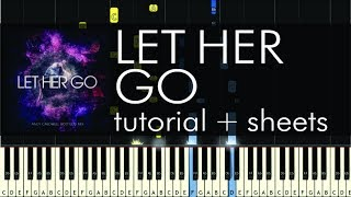 Passenger - Let Her Go - Piano Tutorial - How to Play + Sheets Mp3
