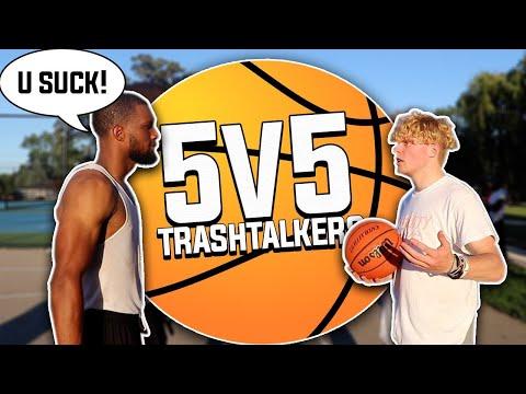 Trash Talking 5v5 Basketball At The Park!