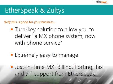 Smart Combo for Telecom Resellers: Zultys MXv & EtherSpeak Wholesale