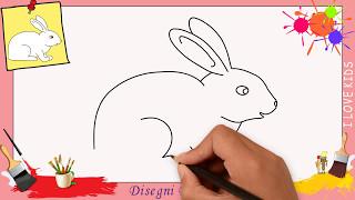 Disegni di coniglietto 3 - Come disegnare un coniglietto FACILE passo per passo per bambini