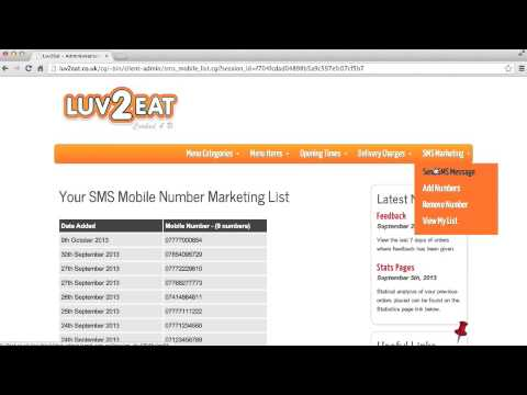 Luv2Eat - SMS Marketing