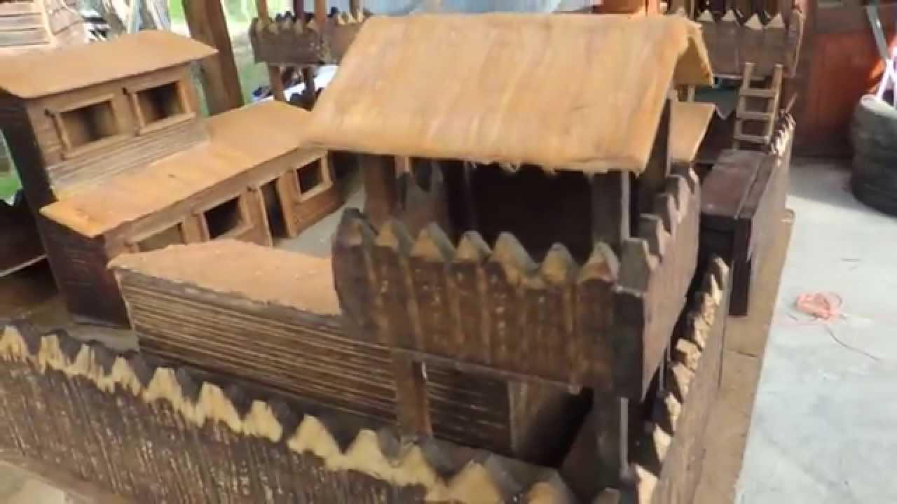 Fuerte medieval miniatura en madera youtube - Pegamento fuerte para madera ...