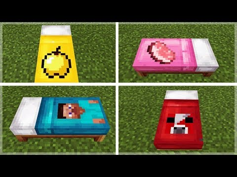 How To Make Custom Minecraft Bed Sheets Addon Creation Youtube