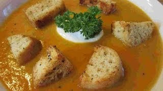 Homemade Savory Sweet Potato & Carrot Soup Recipe