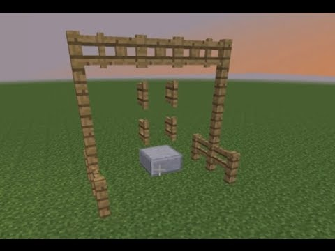 how to make a swing set in minecraft youtube. Black Bedroom Furniture Sets. Home Design Ideas
