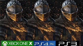 Dark Souls Remastered - Xbox One X vs PS4 Pro vs PS3 Graphics Comparison, Including Blighttown