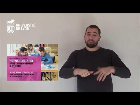 Soirée d'information handicap : préparer son entrée dans l'enseignement supérieur (LSF)