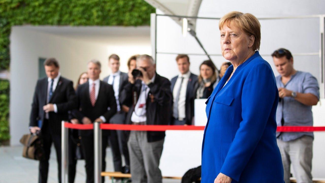 France 24:Live | German Chancellor Angela Merkel welcomes British Prime Minister Boris Johnson