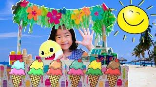 Ella and Irene pretend play with Ice Cream shop Aeltube 아엘튜브