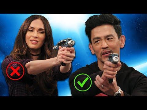 John Cho Teaches Megan Fox How To Shoot a Phaser! (Star Trek Fleet Command)