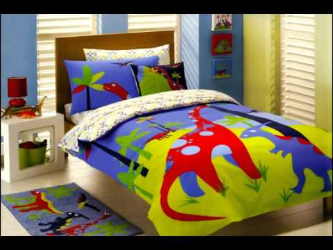 Dinosaur Bedding at Kids Bedding Dreams - YouTube