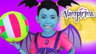Junior Vampirina and Alice become Best Friends & Pretend Play with Color Ball thumbnail