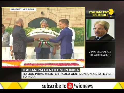 Italian Prime Minister Paolo Gentiloni begins his state visit to India