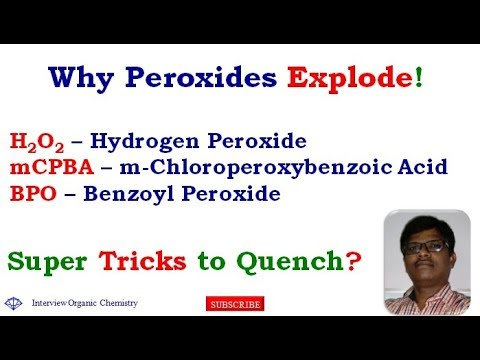 How to Handle and Quench Hydrogen peroxide H2O2 | Benzoyl peroxide | mCPBA | Oxidation