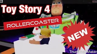 Toy Story 4 Rollercoaster | Roblox | 3 year old gamer