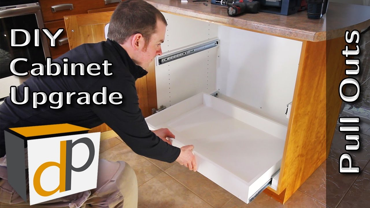 How To Build Install Pull Out Shelves Diy Guide Youtube
