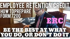Prepare Form 7200 Employee Retention Credit. Qualified Sick Leave & Qualified Family Leave Credits