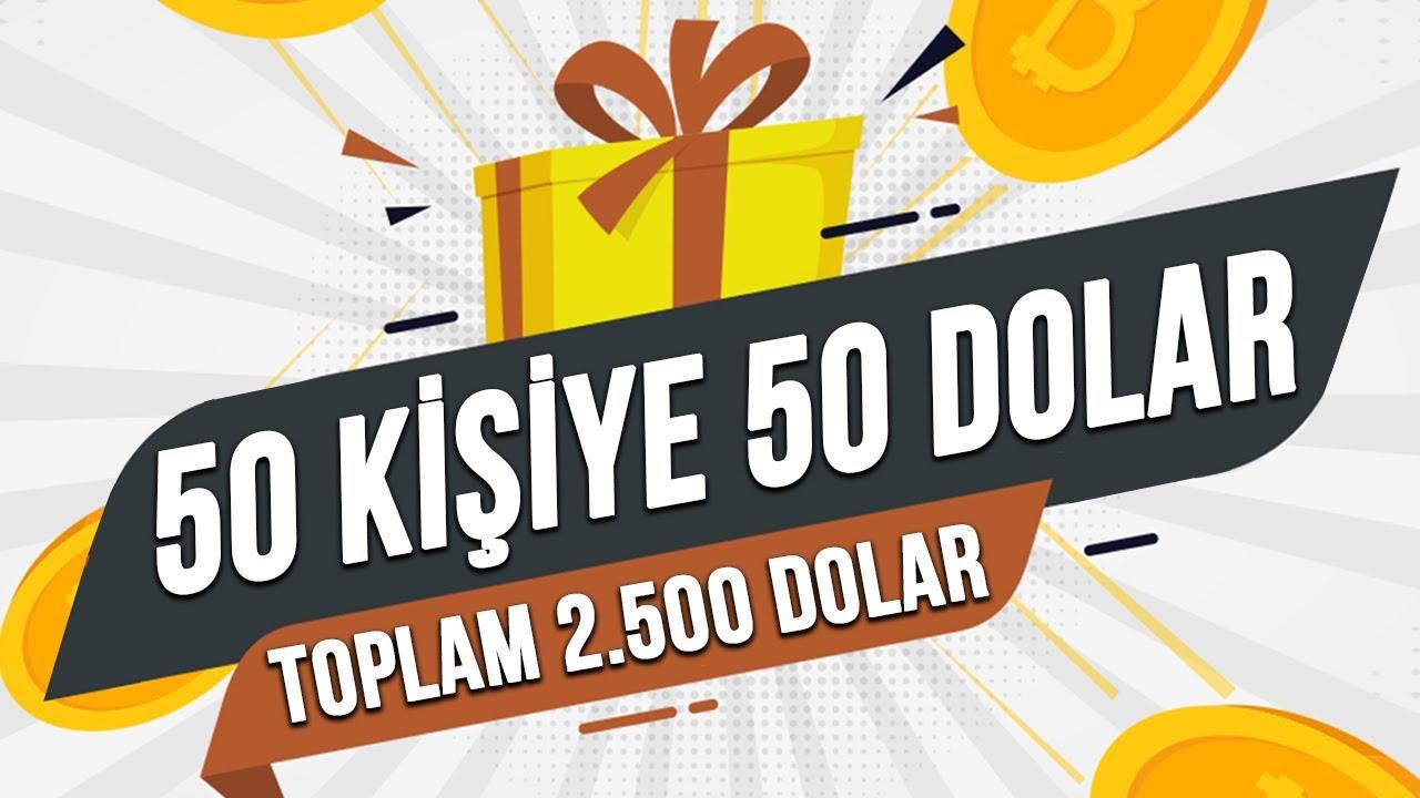 EFSANE ÇEKİLİŞ - 50 kişiye 50 dolar ve toplamda 2.500 dolar para çekilişi