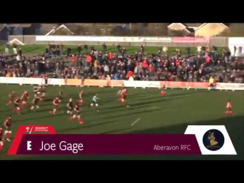 Principality Premiership Try of the Week - Round 13 Winner - Joe Gage of Aberavon RFC