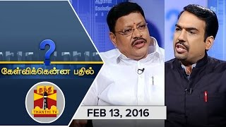 Kelvikkenna Bathil 13-02-2016 Exclusive Interview with Jayantilal Challani 13-02-2016 Thanthi Tv shows full episode video 13th February 2016