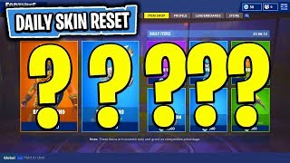 The NEW Daily Skin Items In Fortnite: Battle Royale! (Skin Reset #42)