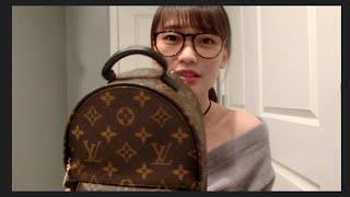 eva lv mini背包开箱 louis vuitton palm springs backpack mini unboxing