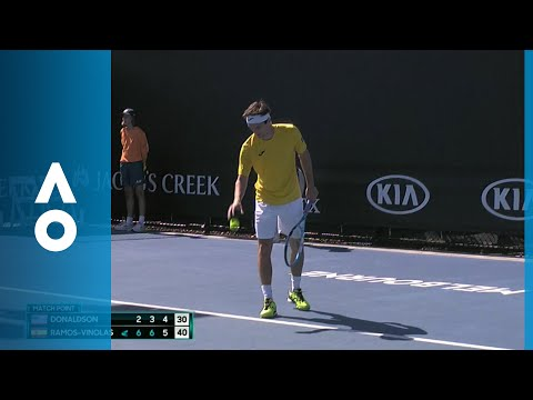 Jared Donaldson v Albert Ramos-Vinolas match highlights (1R) | Australian Open 2018