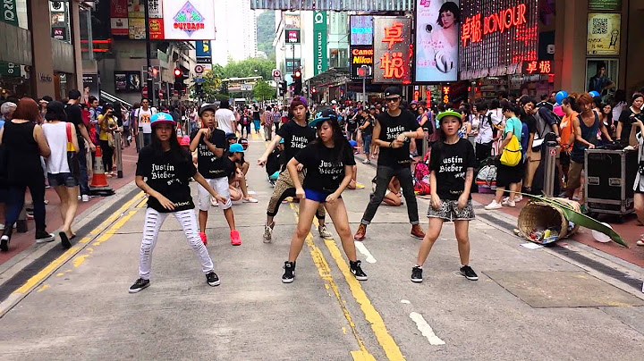 hk belieber flash mob for justin bieber causeway bay