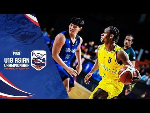 Australia def. Thailand, 119-44 (REPLAY VIDEO) 2018 FIBA Asia U18