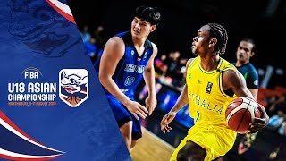 Australia v Thailand Full Game FIBA U18 Asian Chionship 2018