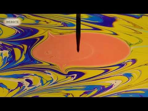 Marbling EBRU ART painting on water!