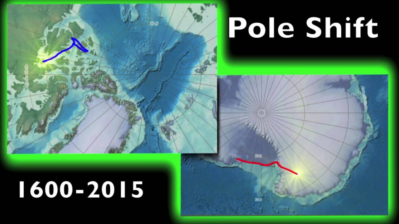 MAGNETICREVERSALorg NS Magnetic Pole Shift YouTube - Pole shift future us map