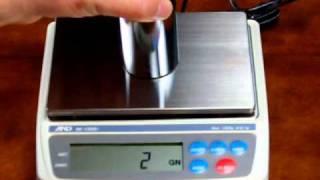 Calibrating AND EK1200i jewelry scale