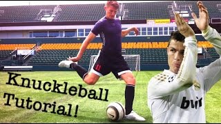 How To Shoot Like Cristiano Ronaldo | Knuckleball Tutorial | Elite Training Tip