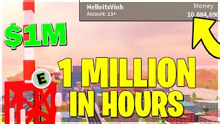 *FAST* HOW TO GET 1 MILLION CASH IN JAILBREAK UNDER AN HOUR (ROBLOX CODE)
