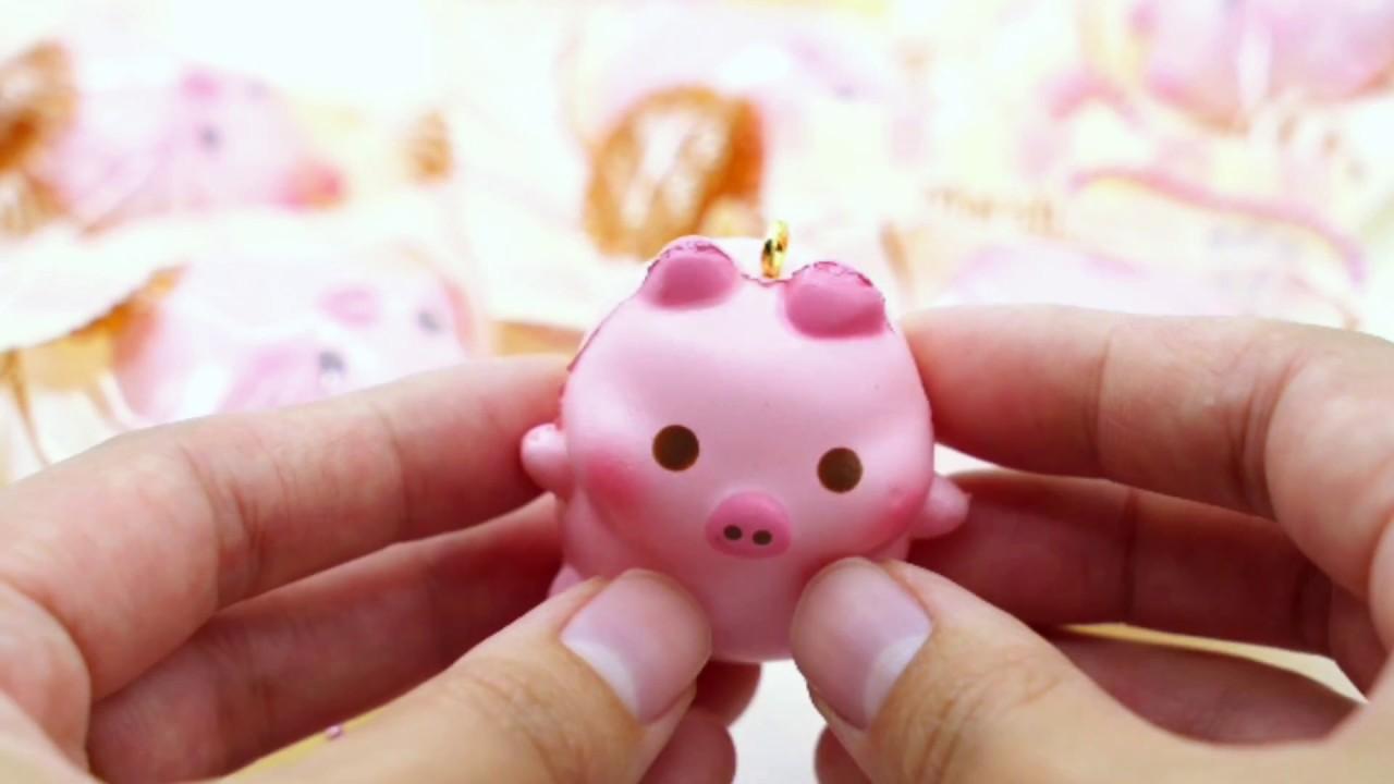Squishy De Lish Jumbo : marshmelli pig squishy by creamiicandy - YouTube