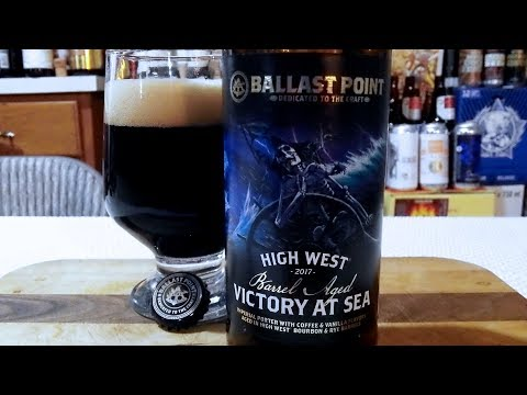 Ballast Point High West Barrel Aged Victory At Sea (12.0% ABV)  DJs BrewTube Beer Review #1107